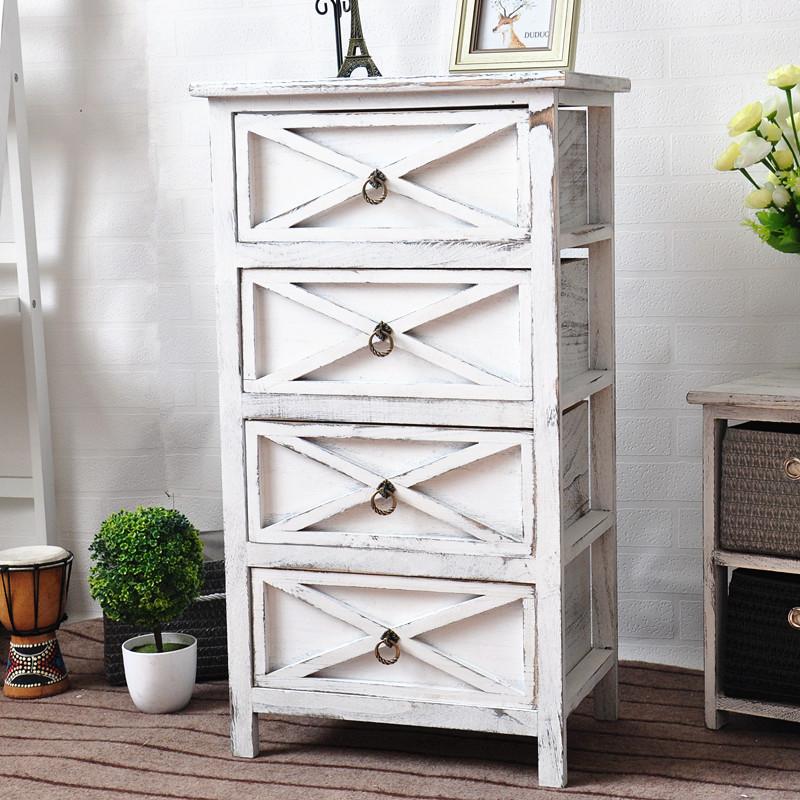 实木储物柜厂家特价批发3抽屉田园床头柜木制定做批发量大从优