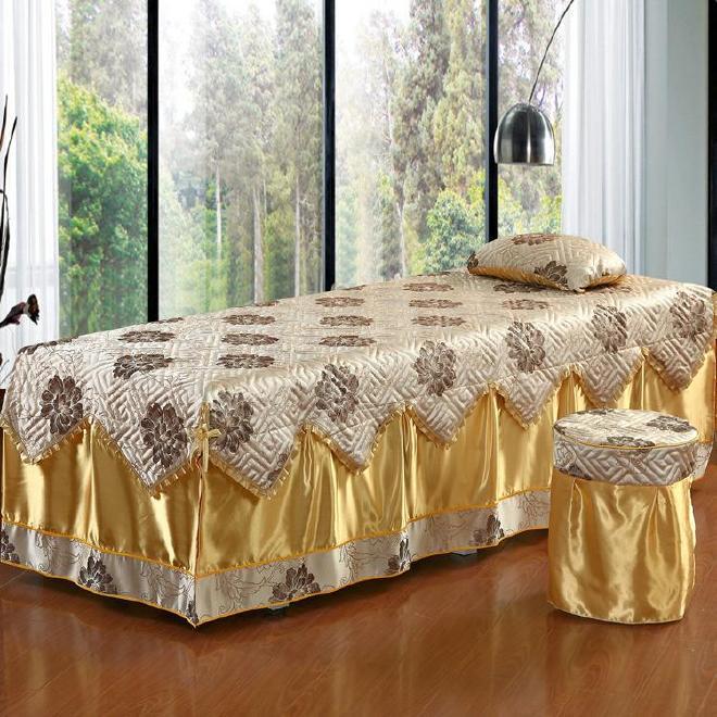 新品 美容床罩四件套 美体按摩床罩 美容院纯棉床上用品支持定做示例图12