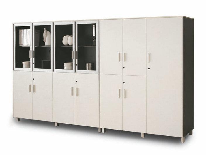 批发文件柜 办公柜子简约木质组合文件柜 办公室储物柜资料柜
