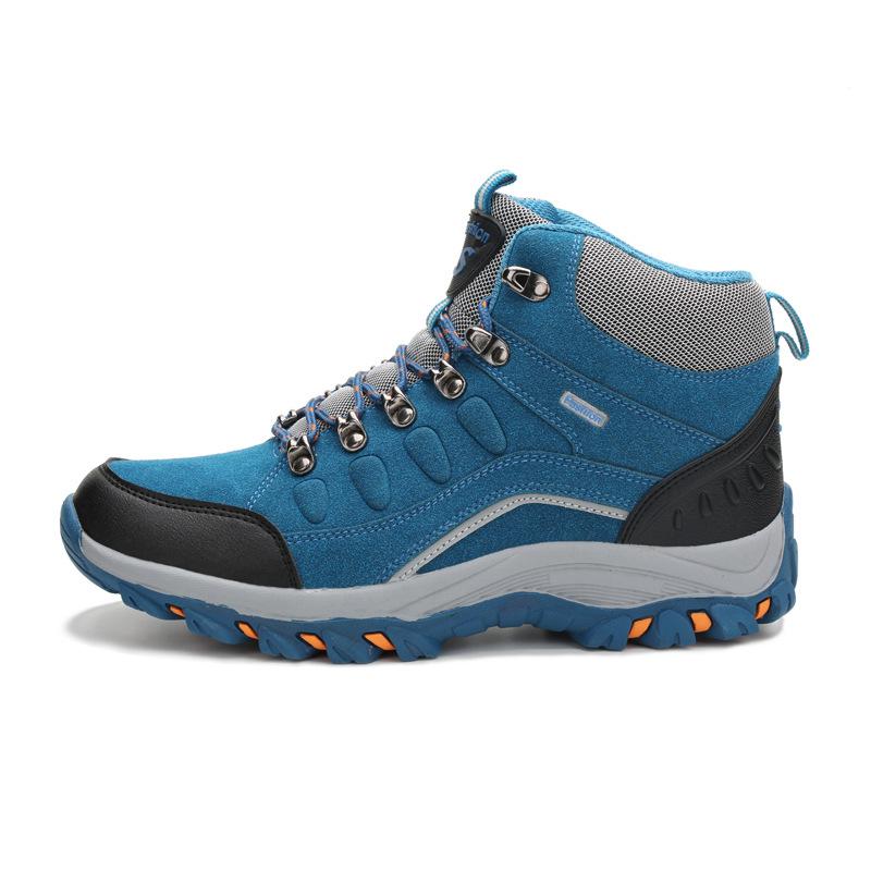 秋冬新款高幫情侶登山加絨戶外鞋登山鞋 徒步越野跑鞋大碼男女鞋