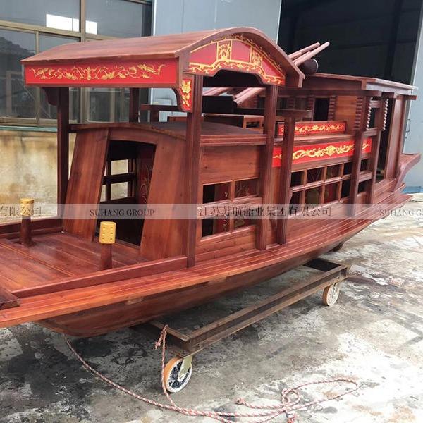 苏航定制南湖红船模型船 户外景观装饰木船 嘉兴南湖红船生产厂家