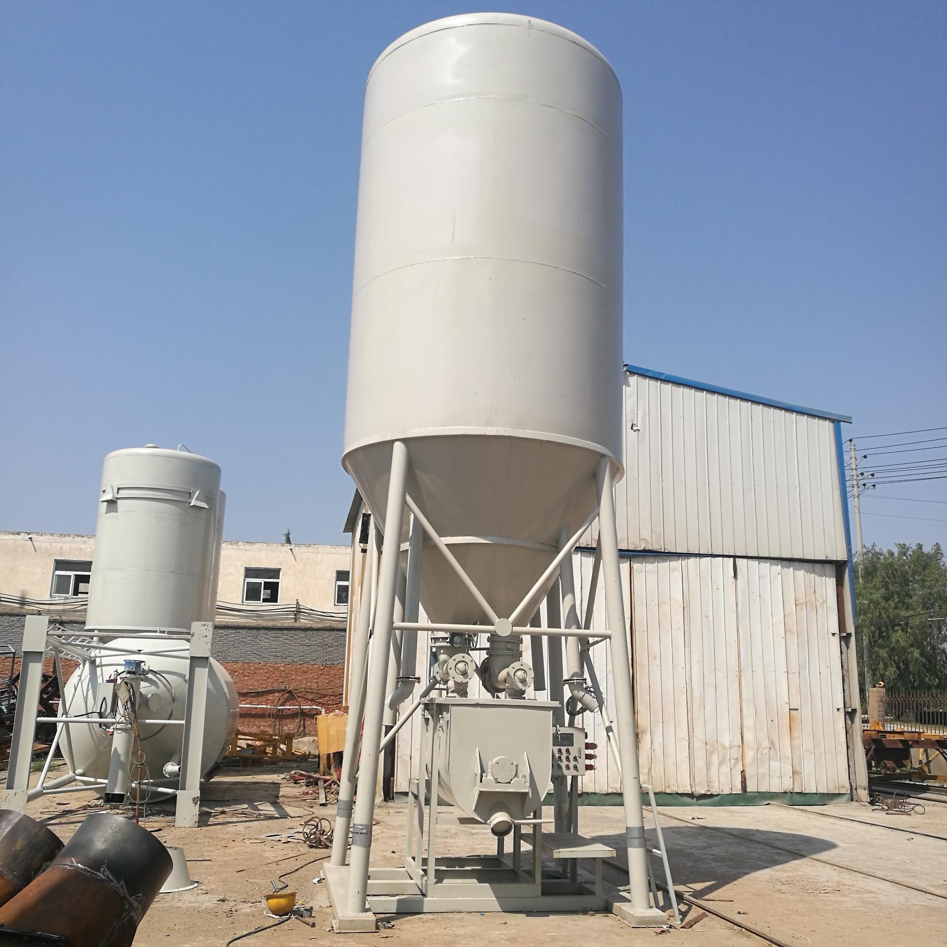 干混砂浆搅拌罐 现货环保工地筑水泥搅拌罐 立式混凝土搅拌罐 24立方图片
