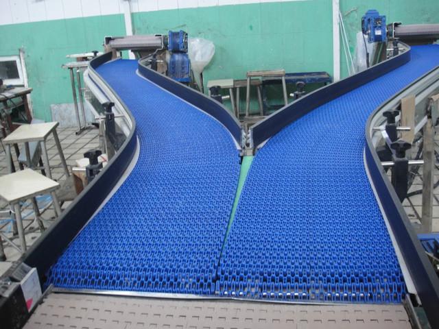 厂家直销不锈钢材料POM网带合流并列输送线