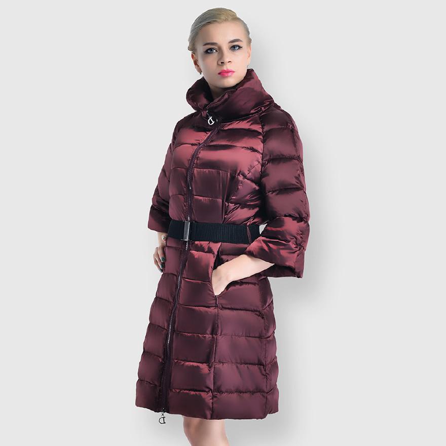 冬季上新新款欧美时尚羽绒棉服 五分宽袖优雅棉衣外套女厂家直销图片