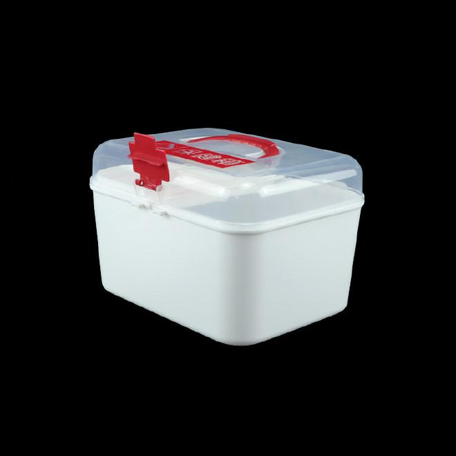 厂家直销塑料药箱 家用药箱 药品收纳箱手提箱药房赠品扶贫保健箱示例图6