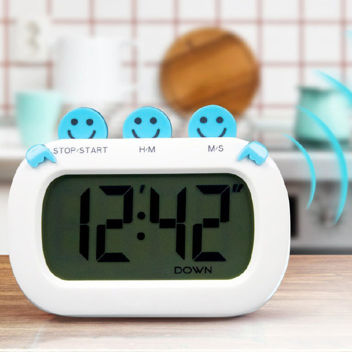 折疊式廚房定時器倒計時時鐘冰箱貼鬧鐘電子時鐘大屏帶磁鐵提醒器圖片