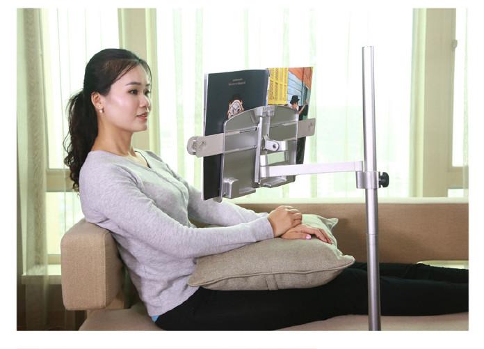 ipad平板电脑落地支架 床头通用懒人健康阅读看书架 OEM示例图22