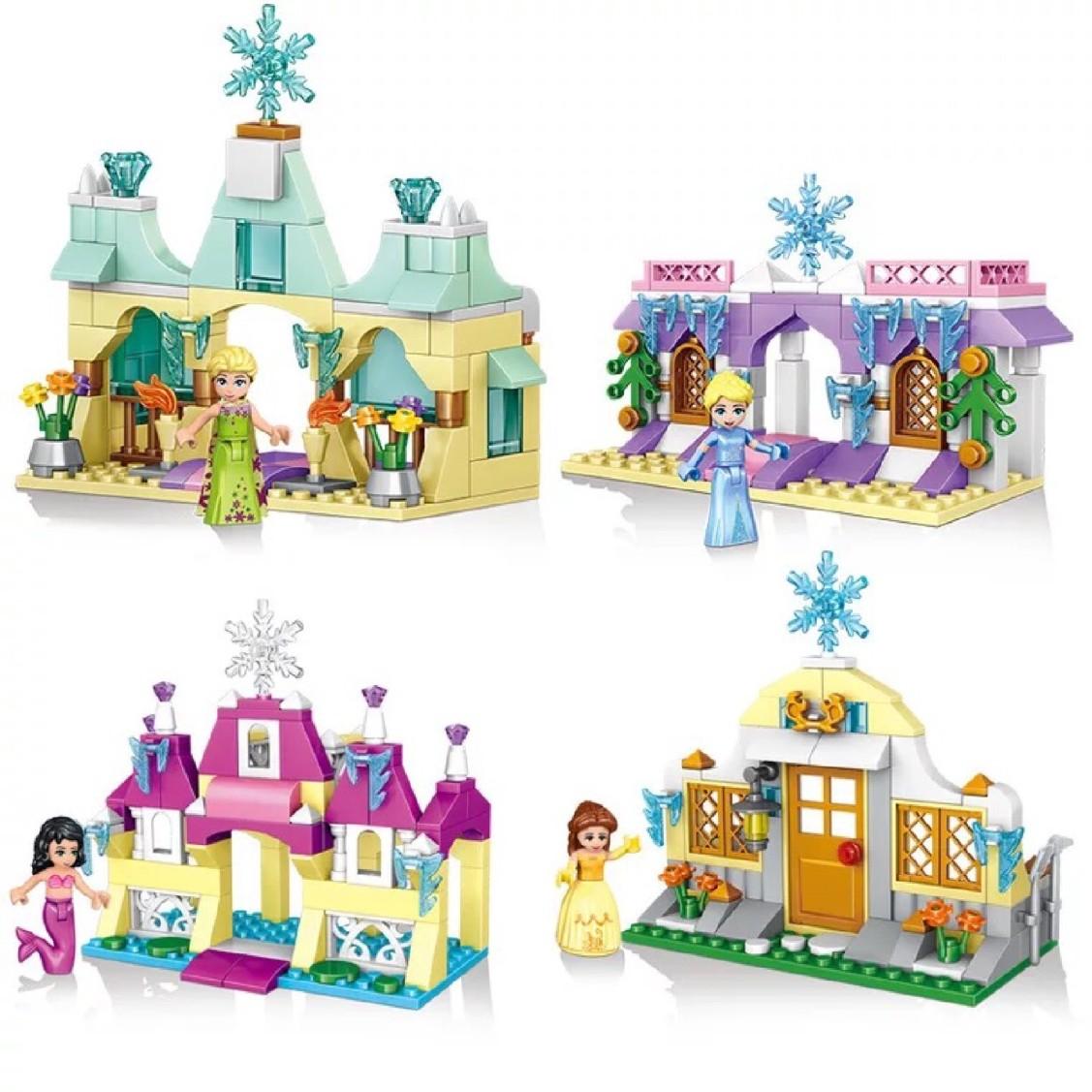 将牌新款玩具拼装益智小车海女孩积木儿童颗粒公主系列四款37044儿童玩具冰雪洋球图片