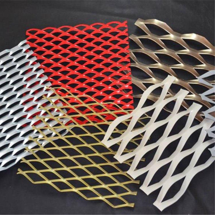 铝板拉伸网 喷塑铝板网 铝板菱形网 照来厂家直营