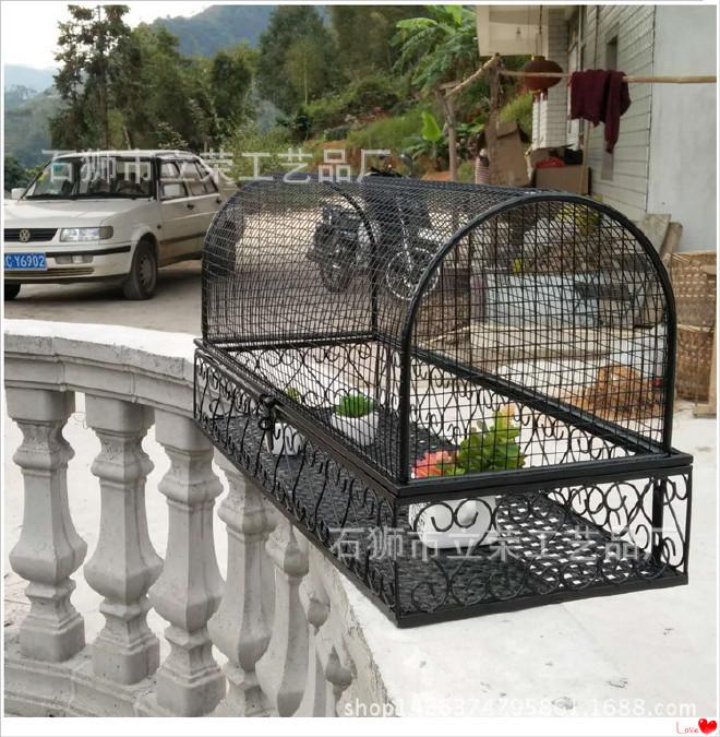 铁艺悬挂栏杆花架阳台护栏多肉花架户外铁笼防鸟种菜植物架包邮图片