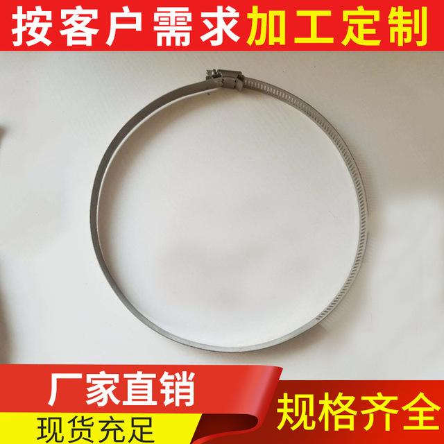 不銹鋼304喉箍 鋼帶抱箍 卡箍 美式抱箍管件 光纜固定配件廠家圖片