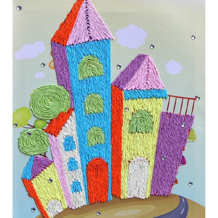 大圣相框纸绳画幼儿园手工创意粘贴画儿童diy