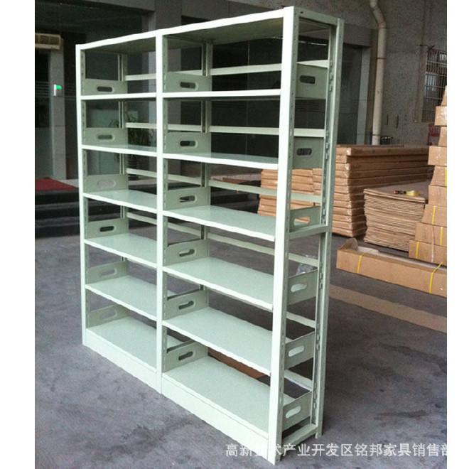 重庆书架 学校图书馆书架 双柱双面书架 钢制书架 厂家直销