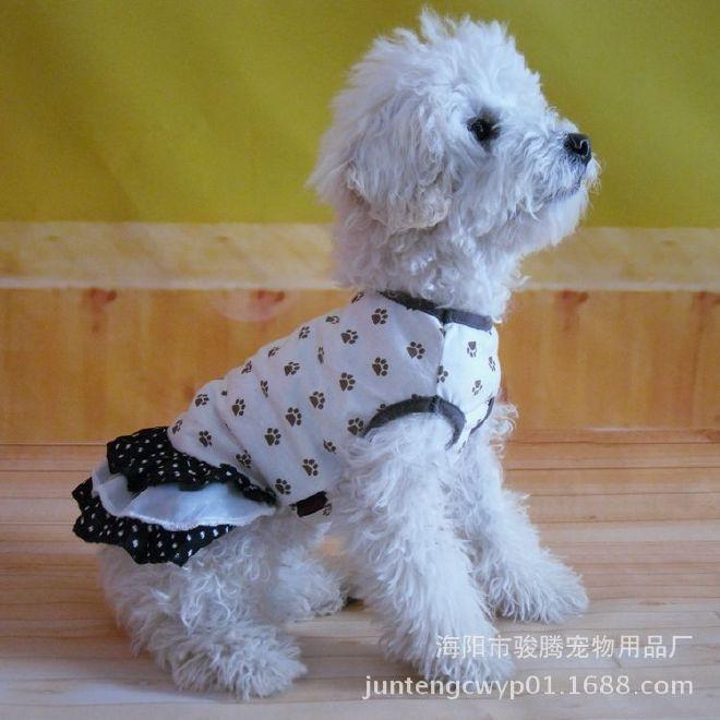 厂家现货供应宠物衣服2016春秋裙子泰迪公主裙小额批发 加工定做图片