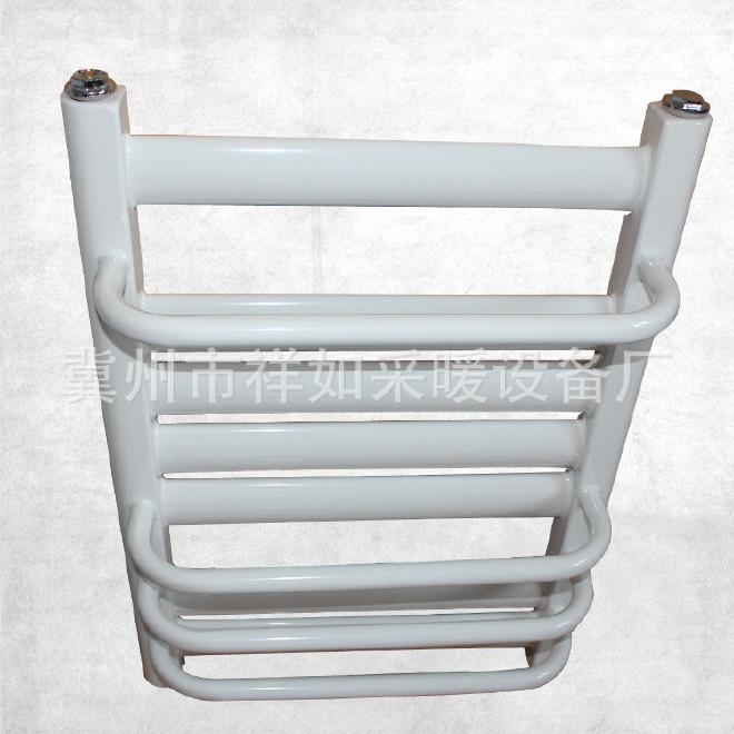 批发家用白色钢制7+4小背篓暖气片 加工定制壁挂式带毛巾架暖气片