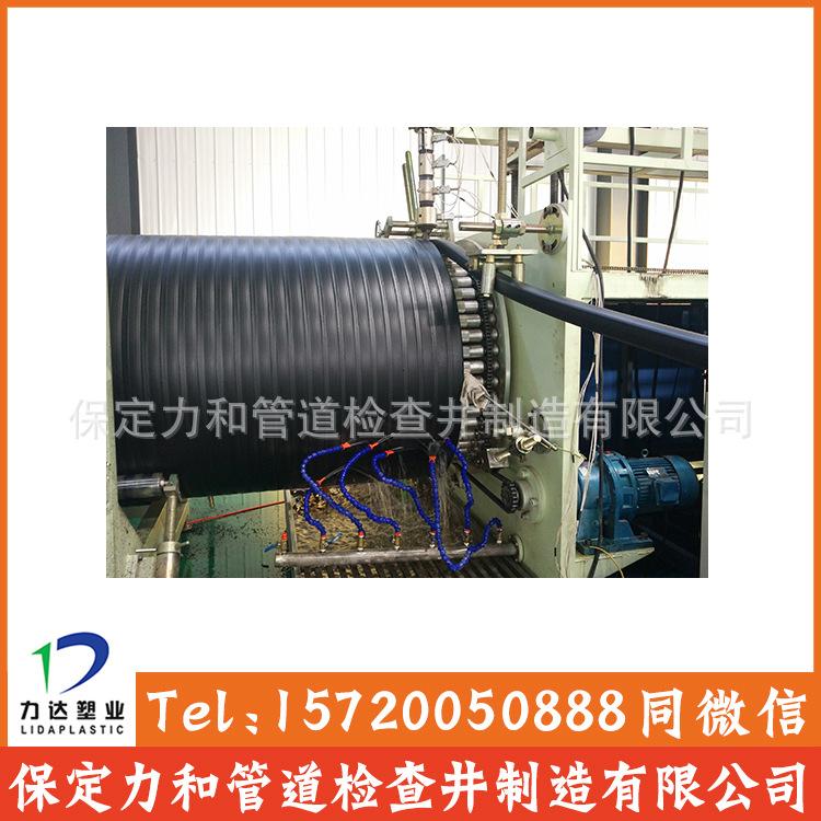 中空壁缠绕管 井壁管 HDPE双平壁缠绕管示例图5
