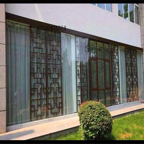 最為流行的轉印木紋仿古造型組合鋁窗花