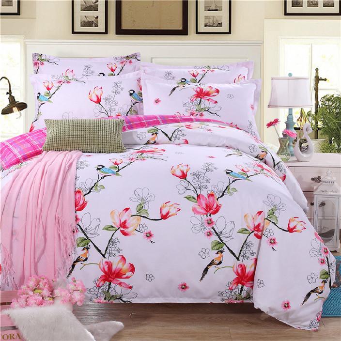 全棉四件套純棉床上用品1.5被套床單家紡三件套婚慶1.8m床品4套件圖片