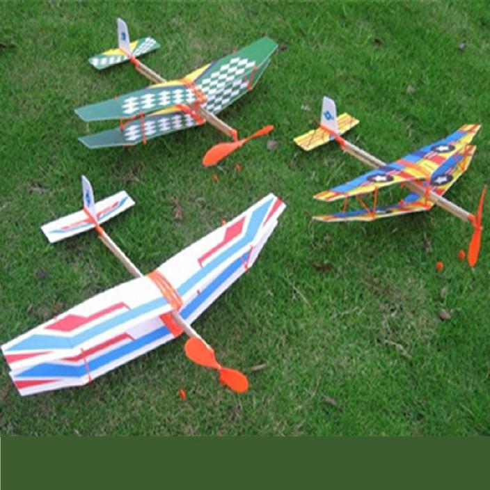 科技制作,diy,飞机模型,橡皮筋动力飞机,橡筋动力,科普玩具