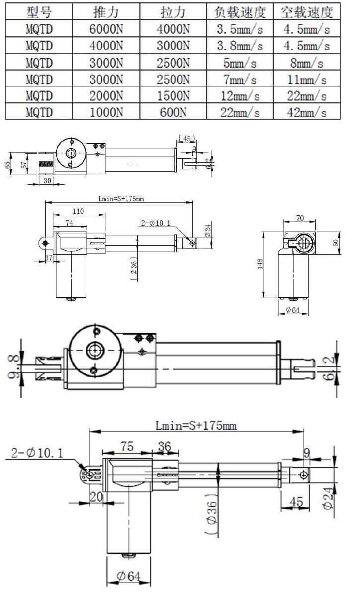 【v推杆推杆伸缩杆手摇驱动器直线电机工业电视频下载迪拜图片