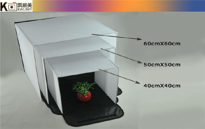 60cm 摄影棚 方形摄影棚 简易摄影棚 小型迷你摄影棚图片