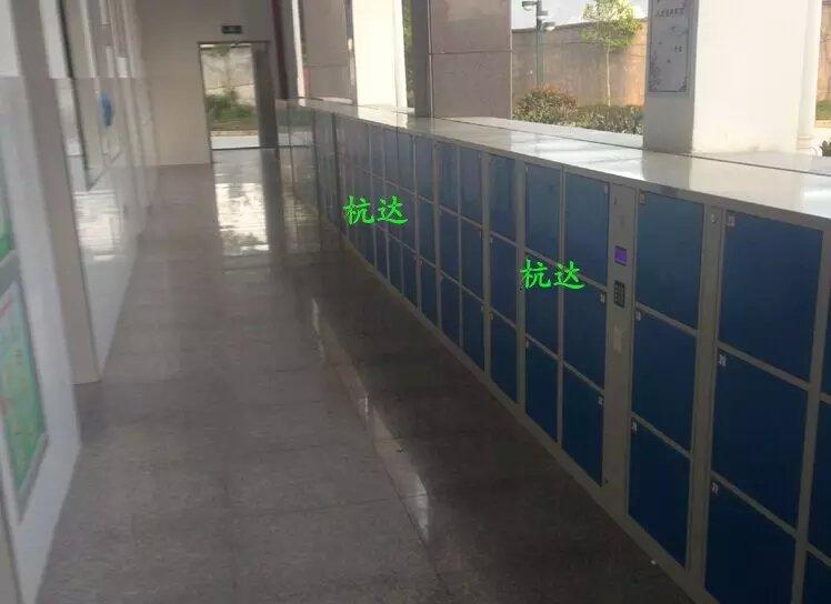 公司刷卡联网电子更衣柜杭州第九中学校联网书包柜储物柜示例图3