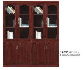 厂家直供 四门书柜  大容量办公书柜 简易书柜 802 江西南康批发