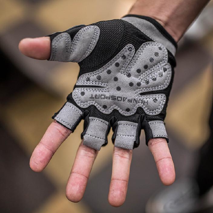 健身手套半指透气防滑耐磨运动护手针织骑行手套个人防护用品批发