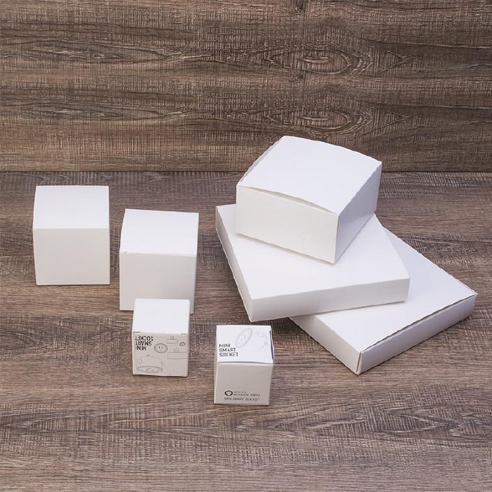 定做白色白卡印刷纸盒 瓦楞包装纸盒 打包纸盒订做 礼品纸盒定制图片