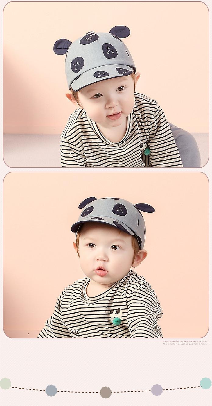 宝宝儿童猫你好棉麻软沿帽可爱耳朵婴幼儿潮表情a宝宝表情包图片