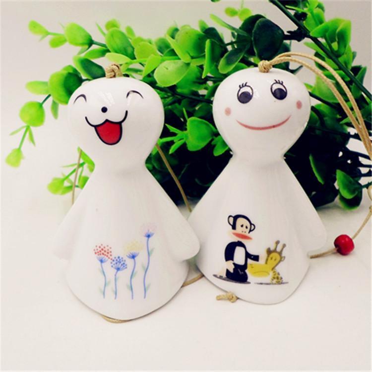 支持混批 日式陶瓷风铃 可爱晴天娃娃陶瓷风铃 品质保障