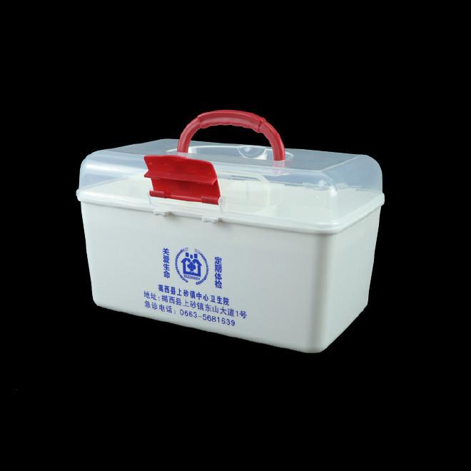 厂家直销塑料药箱 家用药箱 药品收纳箱手提箱药房赠品扶贫保健箱示例图31