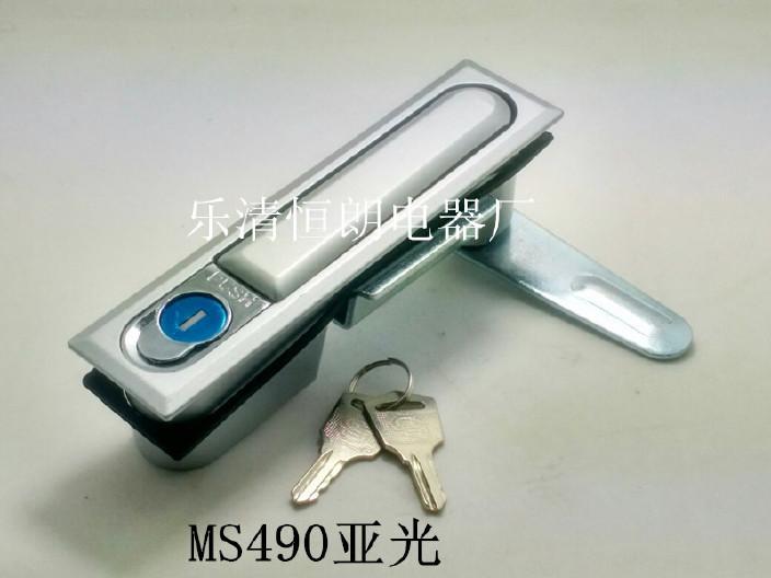 厂家直销MS490亚光方形锁开关柜锁平面锁 机械锁转舌锁 配电柜锁