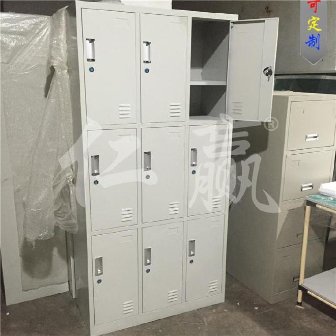 订制 广东六门更衣柜员工9门铁皮柜宿舍储物柜浴室鞋柜寄存柜
