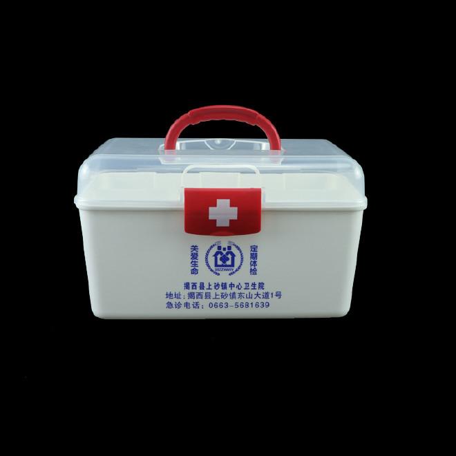 厂家直销塑料药箱 家用药箱 药品收纳箱手提箱药房赠品扶贫保健箱示例图30
