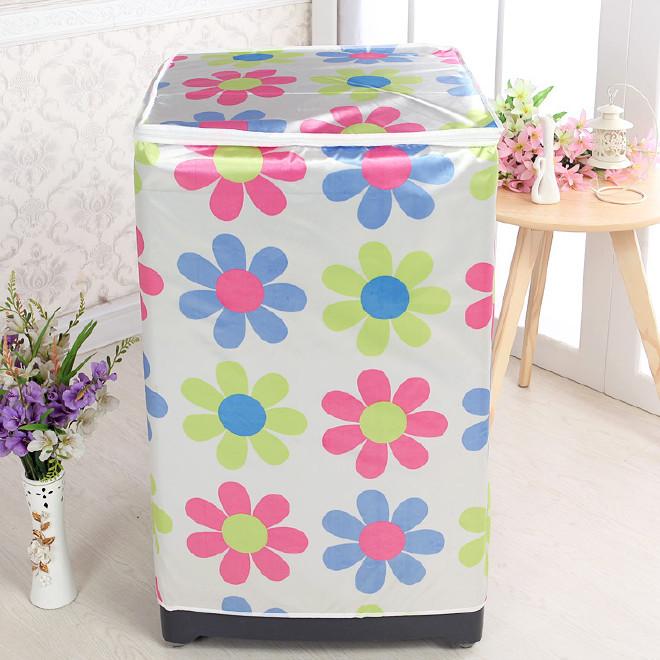 洗衣机罩 色丁布料防水防尘滚筒洗衣机套 环保洗衣机罩子一件代发