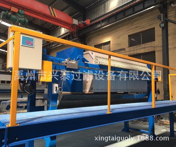 全自动污水处理压滤机 兴泰厢式全自动拉板压滤机特点示例图5