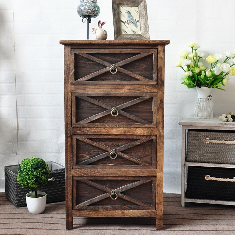创意家居礼品杂货木质储物柜 桌面抽屉式收纳柜厂家供应