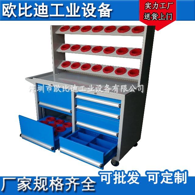 CNC刀具架,数控刀具存放车,抽屉式刀具柜,BT40刀具柜,电脑锣刀具车图片