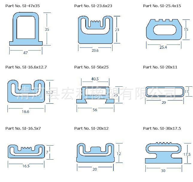 充气密封条 安全触边 橡胶充气密封圈 门窗弯曲充气密封圈 橡胶充气条示例图1