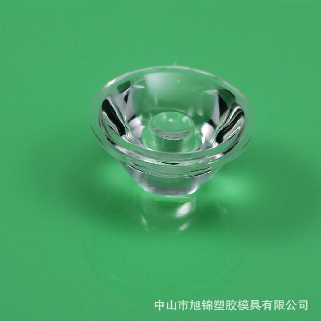 led透镜 20mm光面透镜 单颗60°透镜 PMMA大功率泛光LED透明棱镜图片