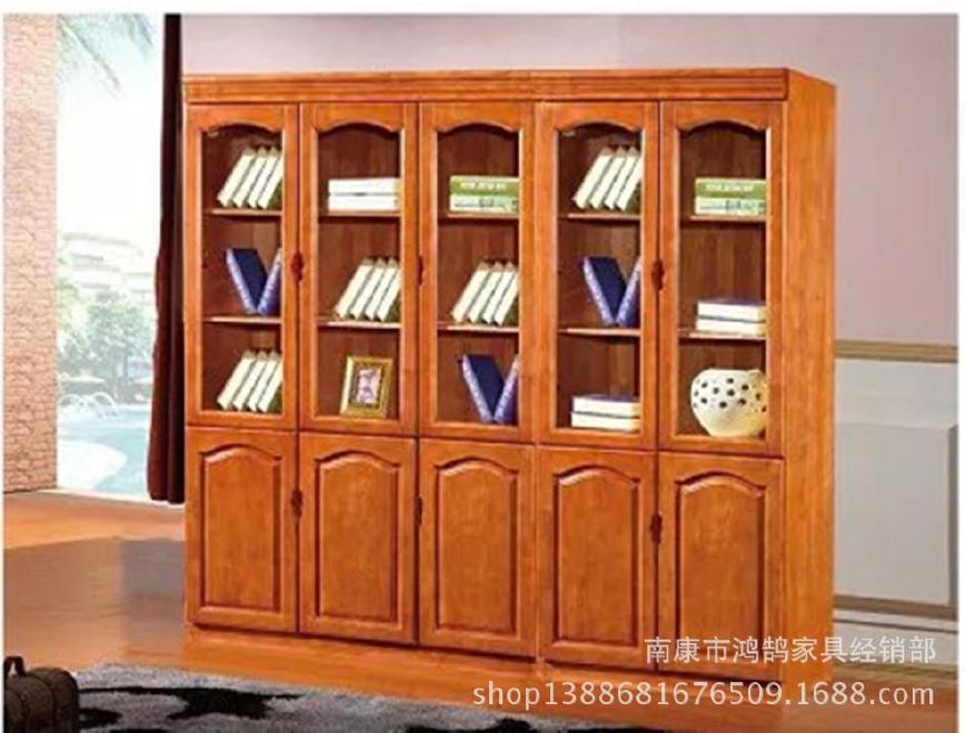 厂家直销  实木电脑桌- 书架 转角电脑桌 组合小户型桌子  809W#示例图5