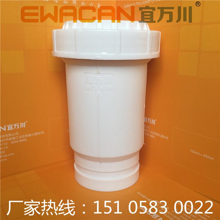 沟槽式HDPE超静音排水管,HDPE沟槽管,压环卡箍,厂家直销示例图2