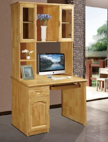厂家直销  实木电脑桌- 书架 转角电脑桌 组合小户型桌子  809W#示例图4