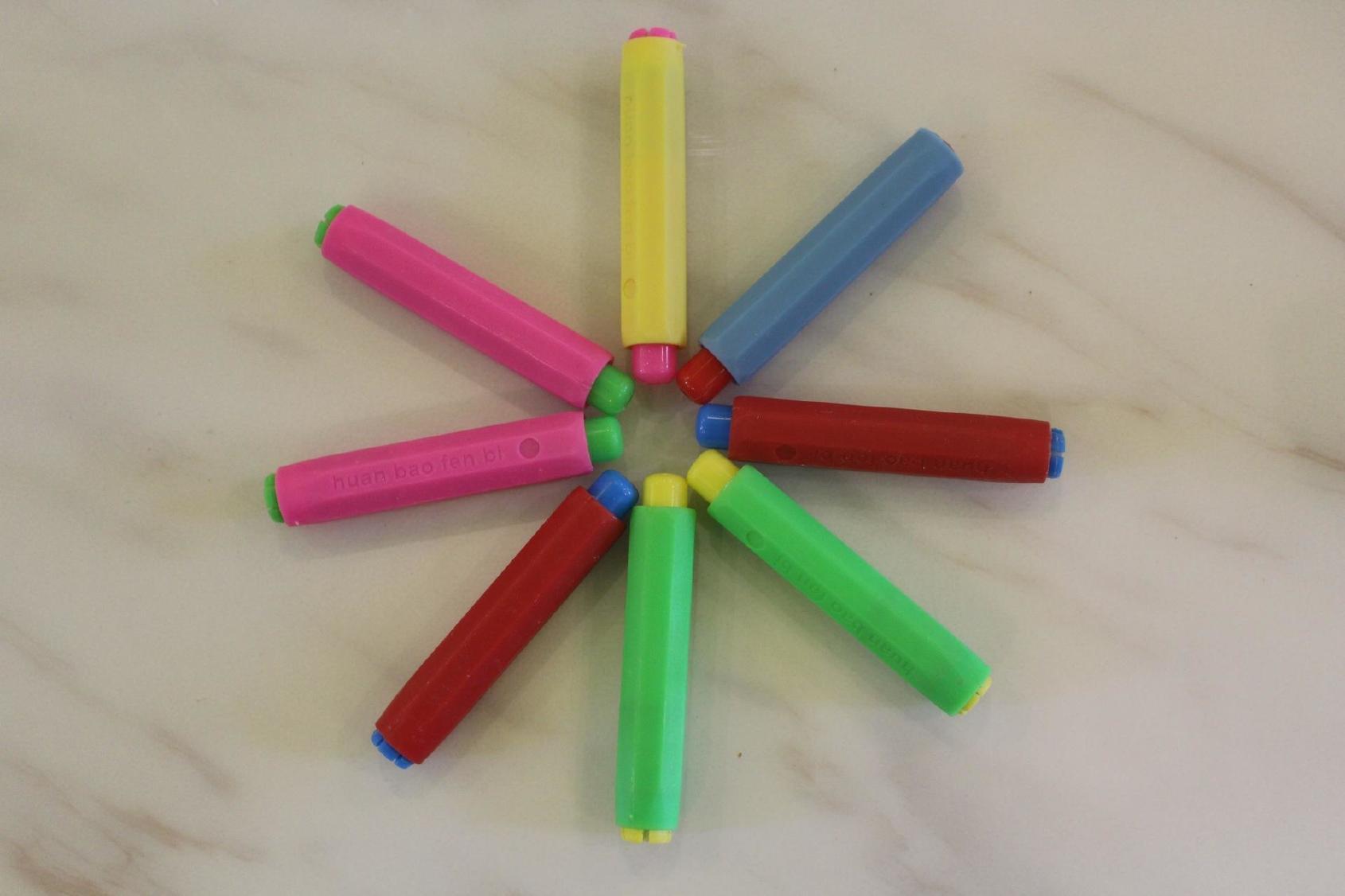 加厚黑板書寫粉筆套筆套多種顏色可選無塵無毒