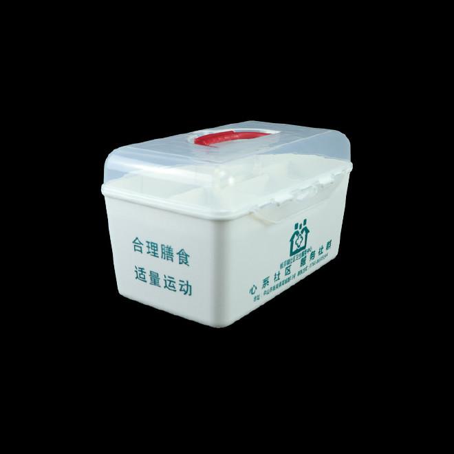 厂家直销塑料药箱 家用药箱 药品收纳箱手提箱药房赠品扶贫保健箱示例图25