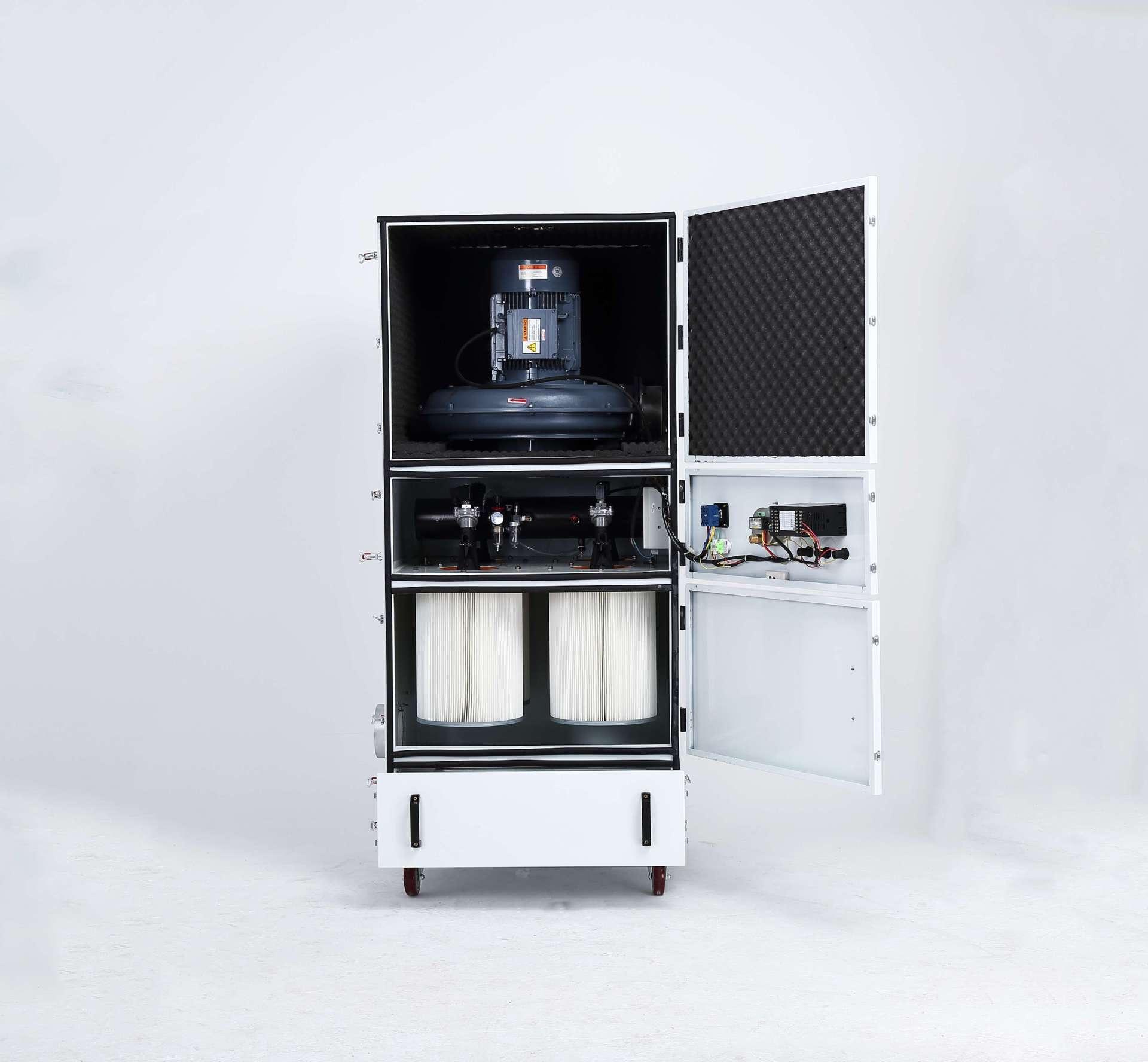 柜式脉冲反吹吸尘器 石墨粉尘吸尘器  抛光打磨专用滤筒式吸尘器 脉冲反吹吸尘器示例图4