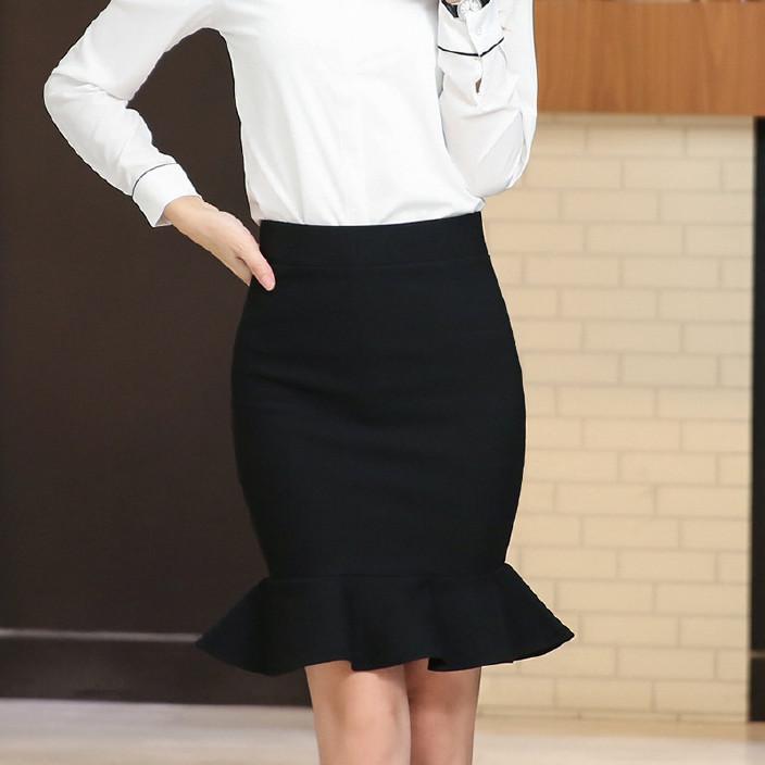 春秋裙新款女鱼尾短裙一步职业半身裙OL通勤加肥大码裙胖MM图片