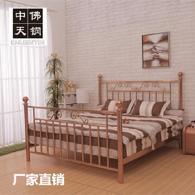 新款不锈钢床美式乡村钛金不锈钢1.8米双人床