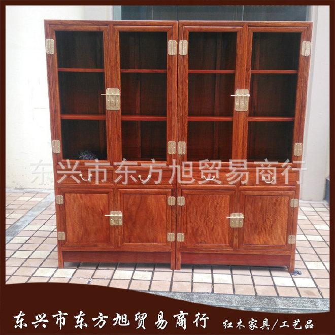 厂家供应 缅甸花梨木书柜 实木家用书柜 书房家具